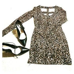 GUESS leopard print mini dress